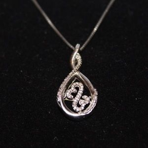 1/10 CT DIAMOND STERLING SILVER KAY HEART NECKLACE